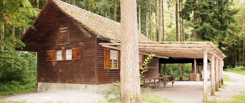 Die Waldhütte Volketswil liegt traumhaft