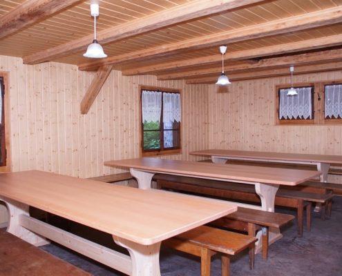 Waldhütte Volketswil von innen